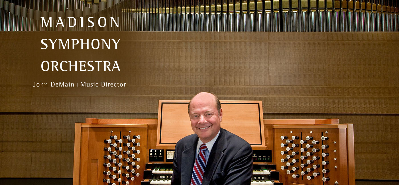 Samuel Hutchison, Organ, presented by the Madison Symphony Orchestra