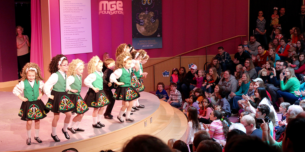 Kids in the Rotunda - Trinity Irish Dance