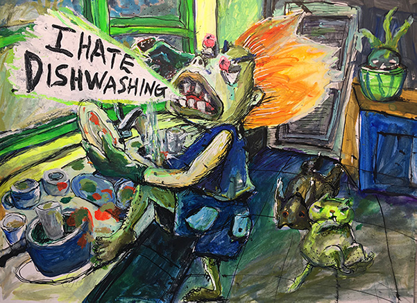 Tzu Lun Hwang I Hate Dishwashing Graphic