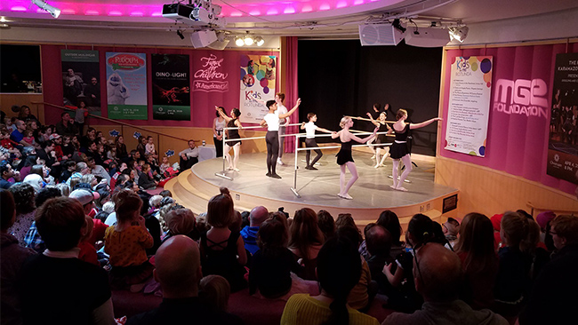 Madison Ballet performs on the Rotunda Stage